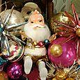 cosmic santa disco wreath