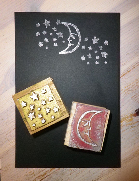 Moon and star cards